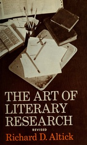 The Art Of Literary Research Richard Altick Epub Download