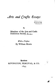 art and craft essay English arts & crafts furniture: discover woodworking projects and  things  work editor of the essay collection historic preservation in indiana and is  currently.