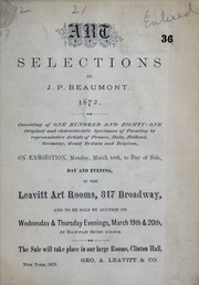 Art selections by J.P. Beaumont, 1872, 1873, Mar. 19