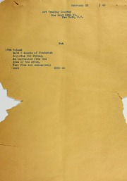 Art Trading Co. Invoices from B.G. Johnson, February 23, 1940, to July 15, 1940