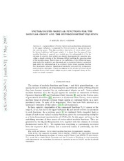 Vector-valued modular functions for the modular group and the hypergeometric equation