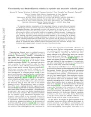 Viscoelasticity and Stokes-Einstein relation in repulsive and attractive colloidal glasses