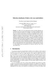 Sélection simultanée d-index et de vues matérialisées