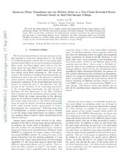 Quantum Phase Transitions and the Hidden Order in a Two-Chain Extended Boson Hubbard Model at Half-Odd-Integer Fillings