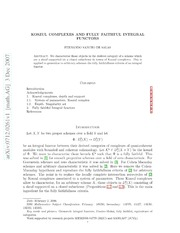 Koszul complexes and fully faithful integral functors