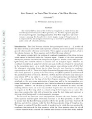 Kerr Geometry as Space-Time Structure of the Dirac Electron