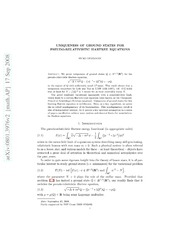 Uniqueness of Ground States for Pseudo-Relativistic Hartree Equations