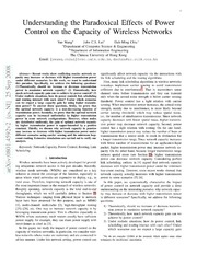 Understanding the Paradoxical Effects of Power Control on the Capacity of Wireless Networks