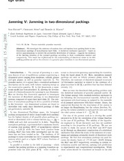 Jamming in two-dimensional packings