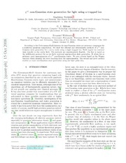 $χ^{(3)}$ non-Gaussian state generation for light using a trapped ion