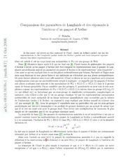 Comparaison des paramètres de Langlands et des exposants à lintérieur dun paquet dArthur