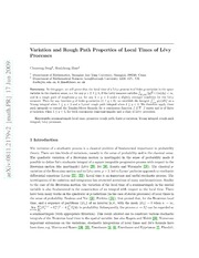 Variation and Rough Path Properties of Local Times of Lévy Processes