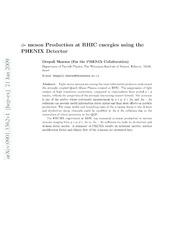 $φ$- meson Production at RHIC energies using the PHENIX Detector