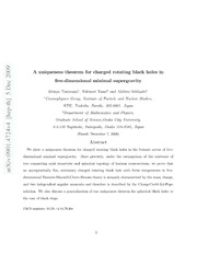 Uniqueness theorem for charged rotating black holes in five-dimensional minimal supergravity