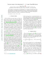 Vacuum energy of two-dimensional N=2,2 super Yang-Mills theory