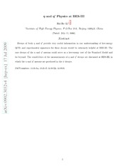 $η$ and $η^prime$ Physics at BES-III