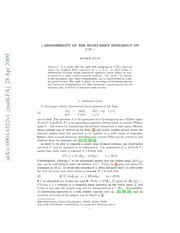 $α$-admissibility of the right-shift semigroup on $L^2(mathbb{R}  )$