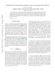 Variational study of the neutron resonance mode in the cuprate superconductors