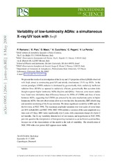 Variability of low-luminosity AGNs: a simultaneous X-ray-UV look with Swift
