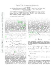 Van der Waals forces and spatial dispersion