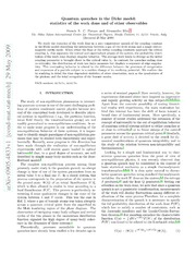 Quantum quenches in the Dicke model: statistics of the work done and of other observables