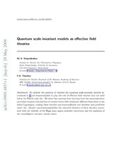 Quantum scale-invariant models as effective field theories