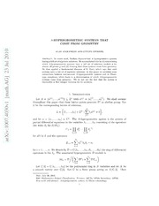 $A$-hypergeometric systems that come from geometry