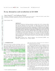 X-ray absorption and occultation in LS 5039