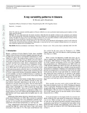 X-ray variability patterns in blazars