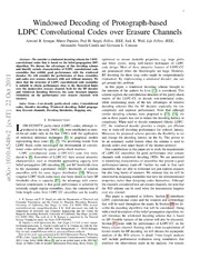 Windowed Decoding of Protograph-based LDPC Convolutional Codes over Erasure Channels