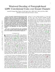 Windowed Decoding of Protograph-based LDPC Convolutional Codes over Erasure Channels
