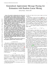 Generalized Approximate Message Passing for Estimation with Random Linear Mixing
