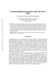 Jet quenching measurements with ATLAS at LHC