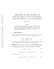 Uniqueness of the Foliation of Constant Mean Curvature Spheres in Asymptotically Flat 3-Manifolds