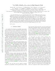 $^{75}$As NMR of Ba(Fe$ {0.93}$Co$ {0.07}$)$ {2}$As$ {2}$ in High Magnetic Field
