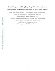 Quantifying and Modeling Long-Range Cross-Correlations in Multiple Time Series with Applications to World Stock Indices