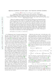 Quantum mechanics in metric space: wave functions and their densities