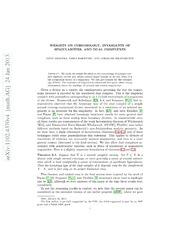 Weights on cohomology, invariants of singularities, and dual complexes