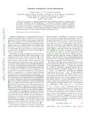 Gaussian multipartite bound information