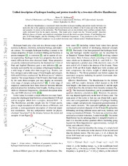Unified description of hydrogen bonding and of proton transfer by a two-state effective Hamiltonian