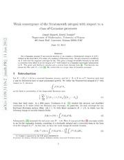 Weak convergence of the Stratonovich integral with respect to a class of Gaussian processes