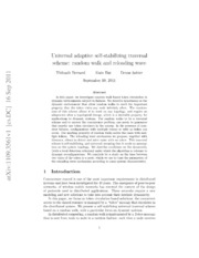 Universal adaptive self-stabilizing traversal scheme: random walk and reloading wave