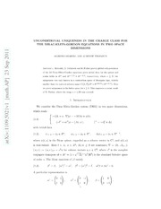 Unconditional uniqueness in the charge class for the Dirac-Klein-Gordon equations in two space dimensions