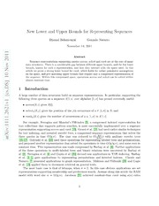 Optimal Lower and Upper Bounds for Representing Sequences