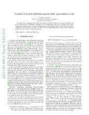 Viscosity of an ideal relativistic quantum fluid: A perturbative study