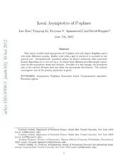Local Asymptotics of P-splines