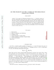 On The Stability of The L^p Norm of The Curvature Tensor