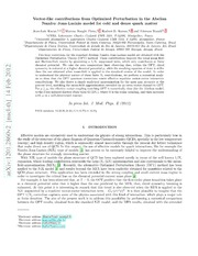 Vector-like contributions from Optimized Perturbation in the Abelian Nambu-Jona-Lasinio model for cold and dense quark matter