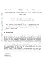 Why Noether symmetry of FR theory yields three-half power law