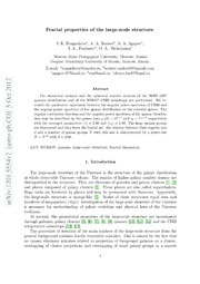 Fractal properties of the large-scale structure
